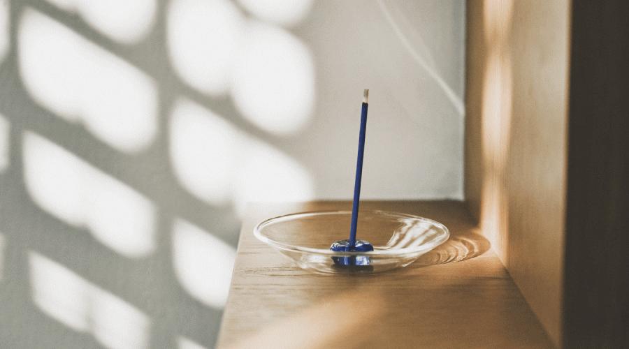ガラス香皿・お香立てセット